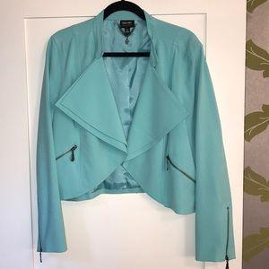 Aqua high-waist blazer